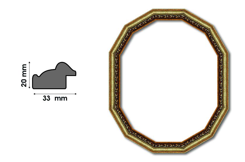 Дванадесетоъгълни рамки S 3301 Луксозни и нестандартни рамки