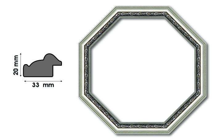 Осмоъгълни рамки S 3306 Луксозни и нестандартни рамки