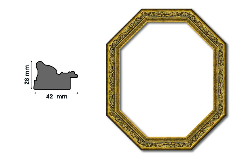 Осмоъгълни рамки F 4228-3 Луксозни и нестандартни рамки