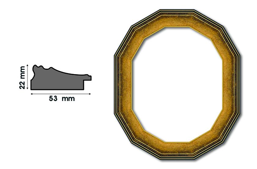Дванадесетоъгълни рамки А 53001 Луксозни и нестандартни рамки